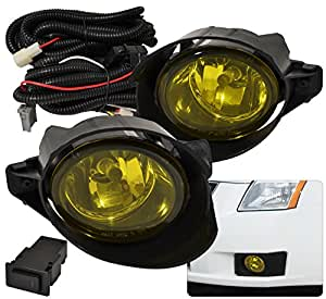 Nissan Sentra Sedan 4 Door Yellow Amber Fog Light Lamp H11 ...