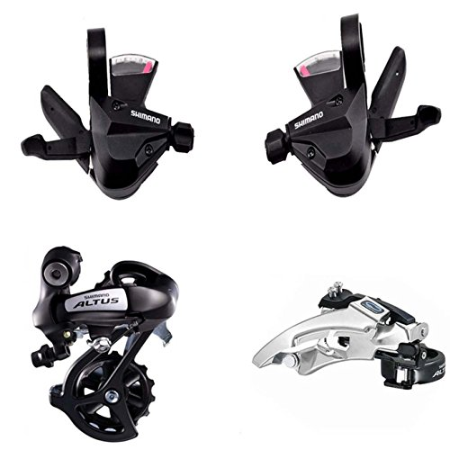 8 Speed Rear (Shimano 8 Speed Groupset FD-M310 Front Derailleur + RD-M310 Rear Derailleur + SL-M310 3x8 Speed Shifter)