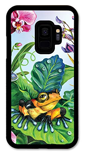 Samsung Galaxy S9 Case, Slim Fit - Hard Shell Rubber - Full Protective Cover Samsung Galaxy S9 - Clown Frog]()