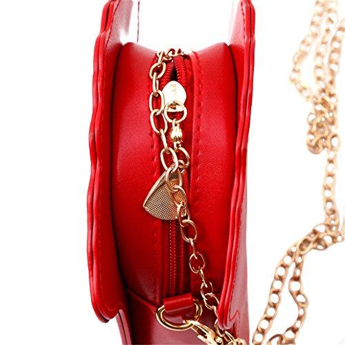 Chinget Damen Mädchen Nette Popcorn Form Kuriertaschen Handtaschen Schulter Beutel Tote Beutel PU-Leder uH6i8unhu