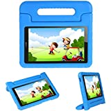 Kids Case Stand for Compatible Huawei MediaPad T3 8 8-in/Huawei Honor Play Pad 2 8-in,I-original Eva Shockproof Protective Carry Handle Lightweight Tablet Holder Cover for Toddlers Children (Blue)