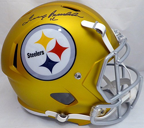 Terry Bradshaw Autographed Pittsburgh Steelers Gold Blaze Full Size Speed Replica Helmet Beckett (Replica Pro Line Helmet)