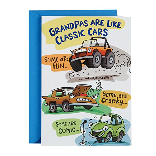 Hallmark Funny Father's Day Greeting Card for Grandfather (Grandpas are Like Classic Cars Pop Up) (Fathers Car Day)