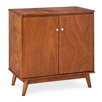 Superbe Mid Century Modern Storage Cabinet   Brown