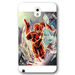 meilinF000UniqueBox The Flash Custom Phone Case for Samsung Galaxy Note 3, DC comics The Flash Customized Samsung Galaxy Note 3 Case, Only Fit for Samsung Galaxy Note 3 (White Frosted Shell)meilinF000