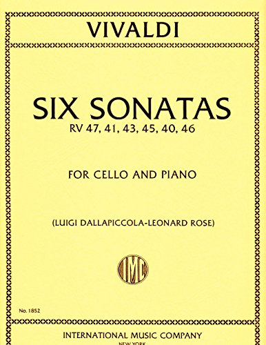 (Six Sonatas, RV 47, 41, 43, 45, 40, 46 for Cello (IMC1852))