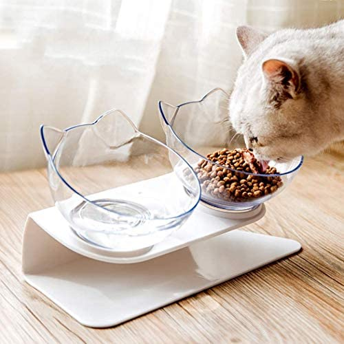 HENJI Double Bol pour Chat,Gamelle pour Chat