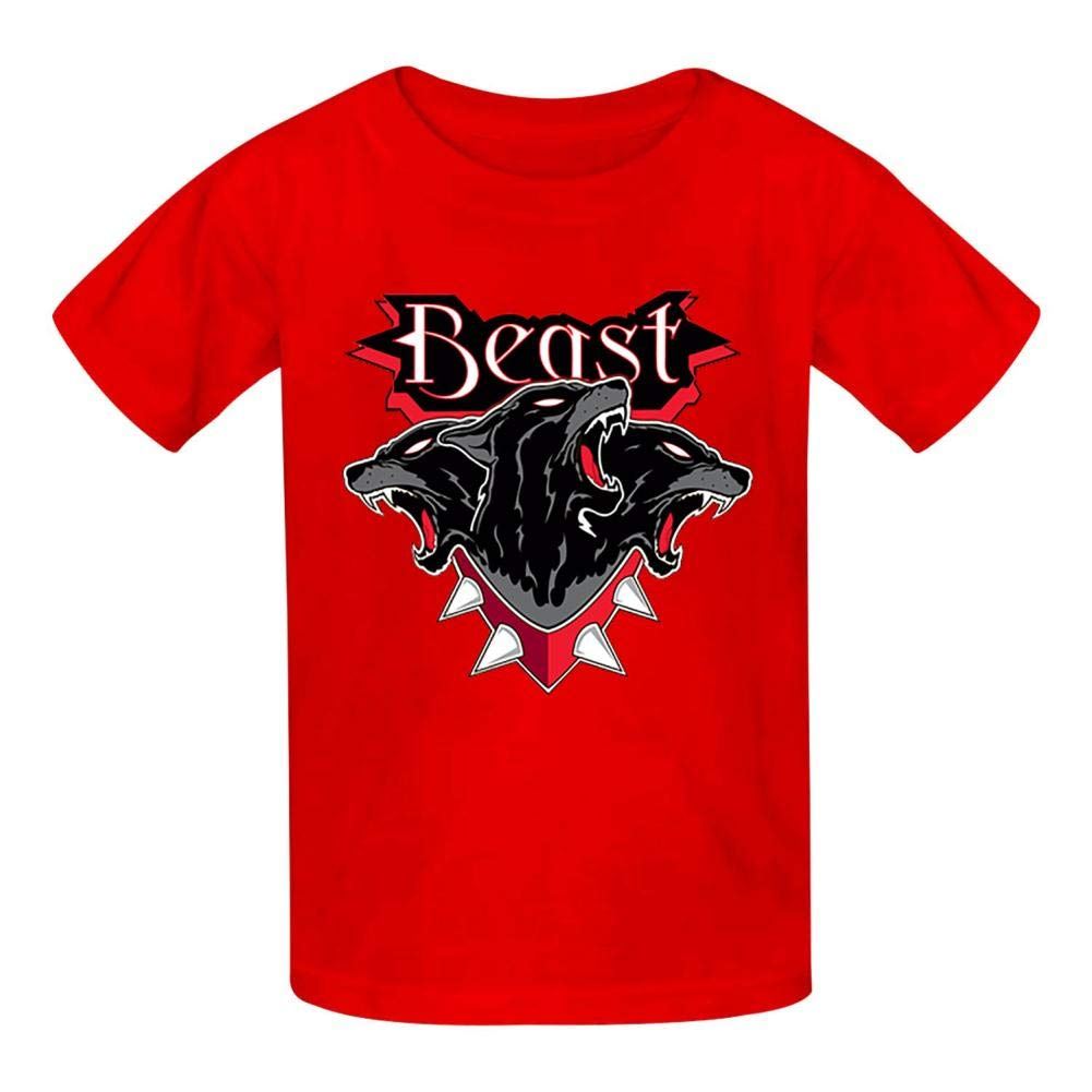 Della Graham Beast Children and Adolescent 3D Printed Outdoor Short-Sleeved T-Shirt S Red