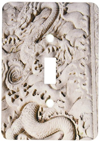 3dRose lsp_187563_1 China, Beijing, Forbidden City, Emperors Palace, Marble Dragon Carving Toggle Switch
