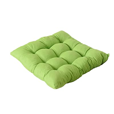 Seat Cushion 40x40cm Indoor Outdoor Comfortable Garden Dining Room Office Chair Pad Cushions (Green): Office Products