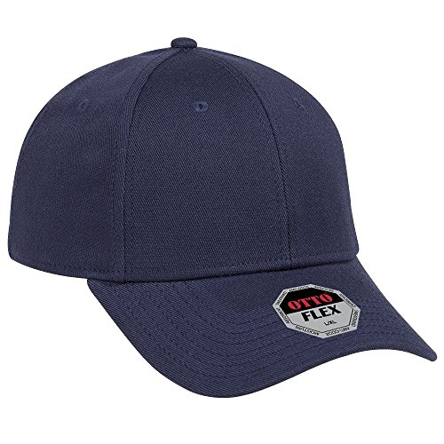 (OTTO Flex Stretchable Wool Blend Twill 6 Panel Low Profile Baseball Cap - Navy)