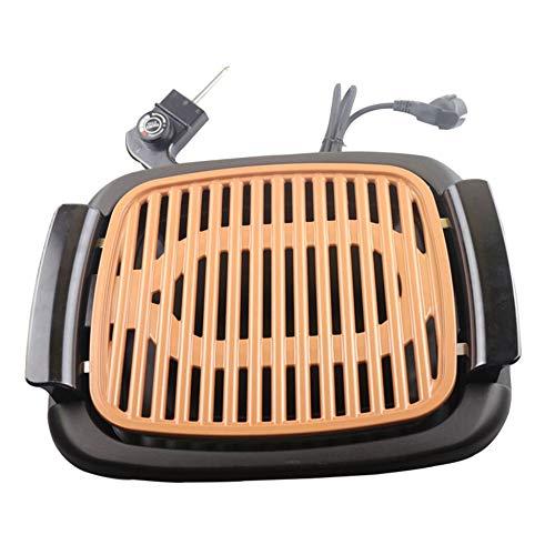 Elettrodomestico senza fumo Grill elettrico Barbecue Piatto elettrico Grill Pan antiaderente Forno elettrico senza spruzzi - Nero nbvmngjhjlkjl