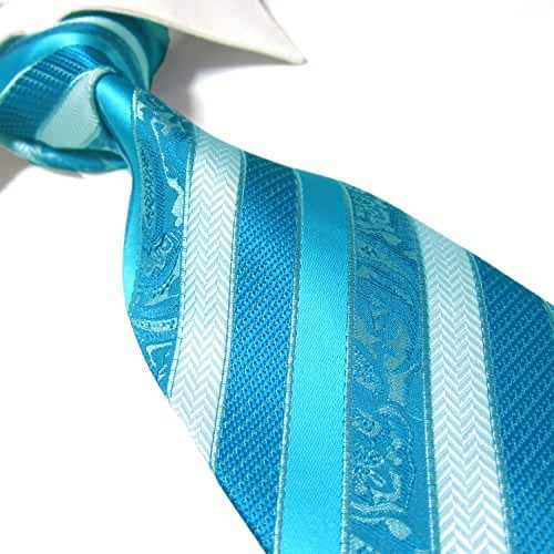 Extra Long Fashion Tie Classic Striped Men's Woven Jacquard Handmade Necktie