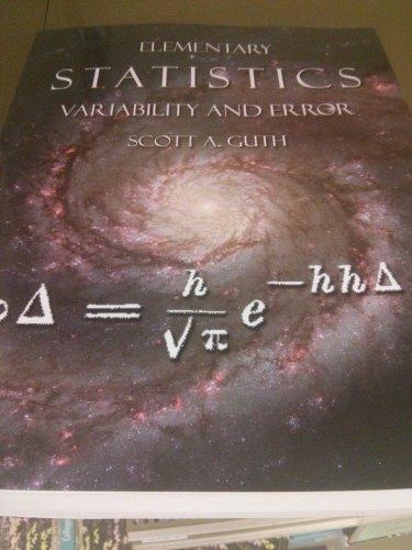 Elementary Statistics Managing Variability and Error
