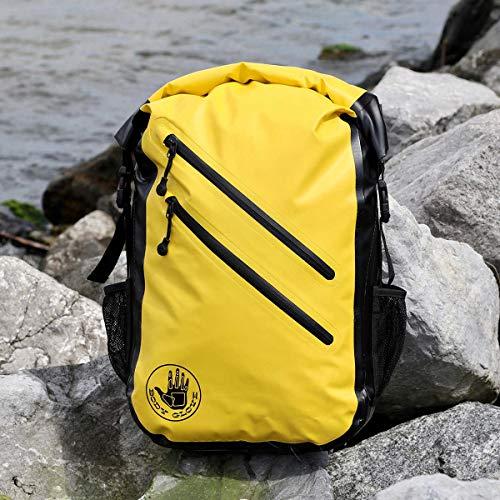 519Oaq9oSAL - Body Glove Seaside Waterproof Floatable Backpack-Yellow, One Size