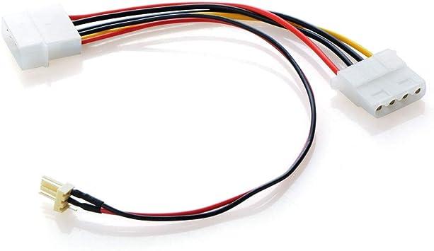 Ochoos - Cable adaptador de 3 pines a 4 pines de conexión de ...