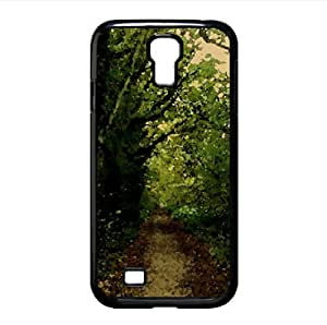 Forest Road 8 Watercolor style Cover Samsung Galaxy S4 I9500 Case (Forests Watercolor style Cover Samsung Galaxy S4 I9500 Case)