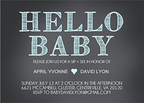 Baby Boy Sip & See Invitations -