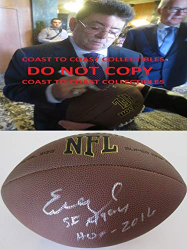 Eddie Debartolo, San Francisco 49ers, Niners, signed, autographed, NFL Football, COA with the proof photo will be included