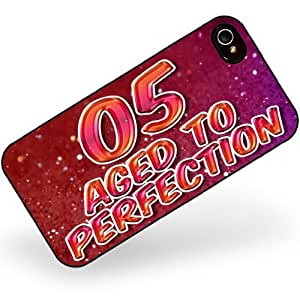 Rubber Case for iphone 4 4s 05 Years! Aged to Perfection, Happy Birthday - Neonblond wangjiang maoyi