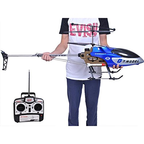 ABCsell RC Helicopter 53 Inch Extra Large GT QS8006-2 Speed 3.5 Ch Blue Builtin Gyro RC Helicopter