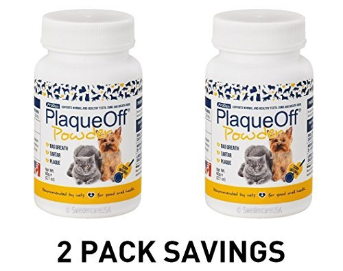 2-PACK ProDen PlaqueOff Animal - All Natural Solution against Tartar & Plaque 2 x 60 gr by Proden