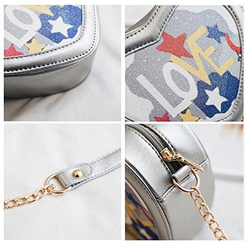 Woman Silver Bag Crossed 00353 Bb Millya Silver 01 silver HCqOwdExt