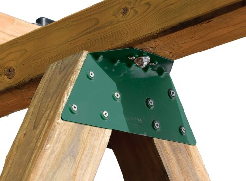 - Swing-N-Slide NE 4467-1 EZ Frame Bracket for Swing Set Swing Beam (Includes 1 Bracket), Green