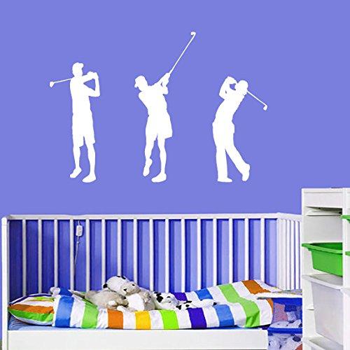CreativeWallDecals Vinyl Wall Decal Sticker Bedroom Golf Player Mans Boys Figure Boll Game Sport R1658