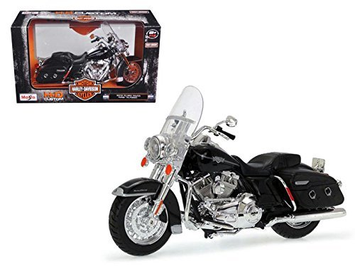 Metal Harley Davidson Diecast (Maisto 32322 2013 Harley Davidson FLHRC Road King Classic Black Bike Motorcycle Model 1/12)