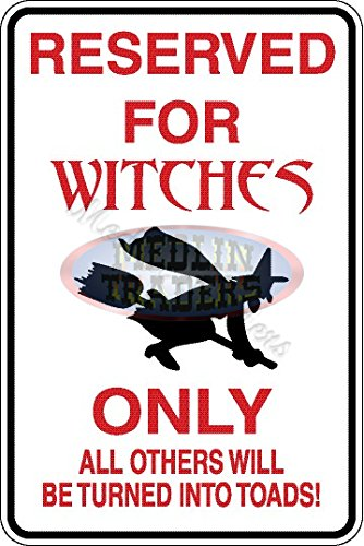 Funny Sign Witch Aluminum Parking Only HALLOWEEN SIGN S-8074 -
