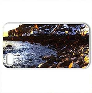 THE BEACH - Case Cover for iPhone 4 and 4s (Beaches Series, Watercolor style, White)