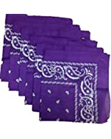 6 Color Pack Paisley Bandana Scarf, Head Wraps