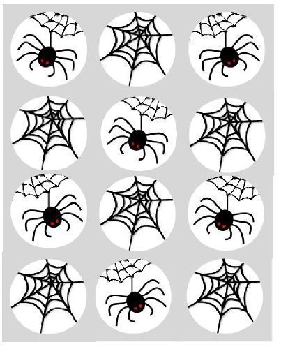 12 Spider Web Halloween rice paper fairy /