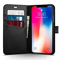 coque protection portefeuille spigen iphone x