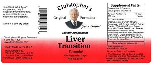 Liver And Gall Bladder - Christopher's - Liver Transition Formula - 100 vegicaps