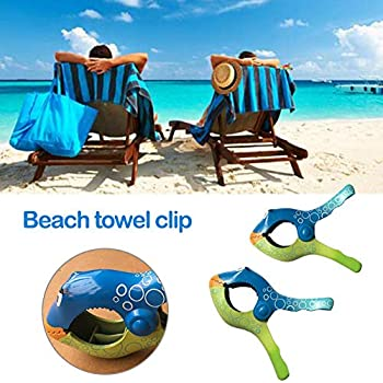 Amazon.com: Assiduousic Beach Towel Clips in Bright Colors for Pool ...
