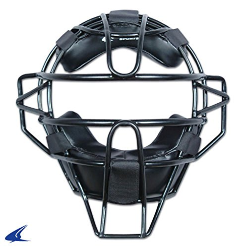 Blackouttees Champro CM63B Black Ump Adult Umpire Face Mask Adult Umpire Mask - 27 Oz Black ()