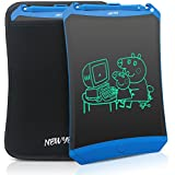 Newyes Robot pad 8.5 Inch LCD Writing tablet electronic writings pads Drawing board gifts for kids office blackboard - Erase Button Lock Included(Blue+Case)
