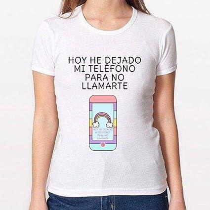 Positivos Camisetas Mujer/Chica - diseño Original Teléfono - M