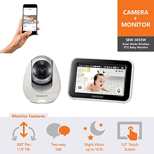 Samsung Wisenet SEW-3053WN BabyView Wi-Fi Remote Viewing Baby Video Monitoring System by Samsung Wisenet