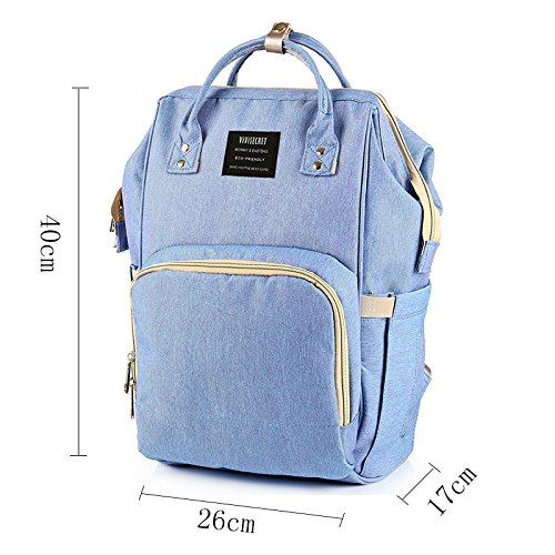 Diaper Bag Multi-Function Waterproof Travel Backpack Nappy Bags for Baby Care, Large Capacity, Stylish and Durable, Yookeyo by Yookeyo (Image #9)