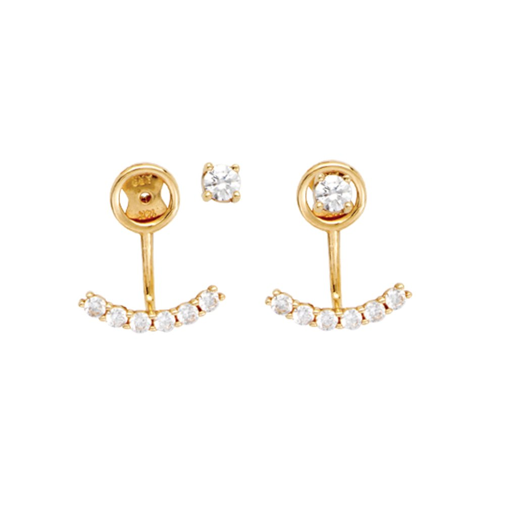 Jacket Earrings,14Kt Gold Cz Earring by DiamondJewelryNY
