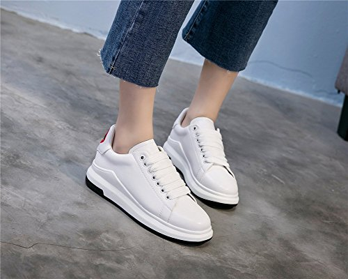 Flat Little Lace White Casual a Shoes Spring Soles Shoes Summer Light Ladies Korean New Sneakers Up Embroidery Academy Womens's Shoes XgzwSxn