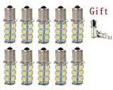 ZHOL 1156 7506 1003 1141 LED 18 SMD LED Bulbs Interior RV Camper Warm White 10-pack(Extra 2 more)