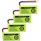GEILIENERGY 2.4V Rechargeable Batteries Compatible with at&T/Lucent BT18433 BT184342 BT-18433 BT-184342 BT-28433 BT-284342 BT-6010 BT-8000 BT-8001 BT-8300 Empire CPH-515D CPH515D(Pack of 4)