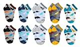 CHUNG Toddler Boys 10 Pack Cotton Low Cut Socks Dinosaur Prints 2-9 Years,PersonalDino10P,7-9Y
