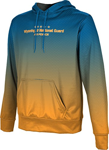 Men's Wyoming Air National Guard Military Zoom Hoodie Sweatshirt (Apparel)