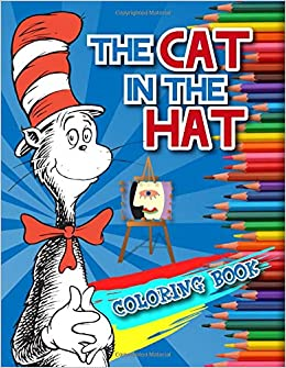 Сat in the hat and maсhine coloring pages for kids, printable free ... | 335x260