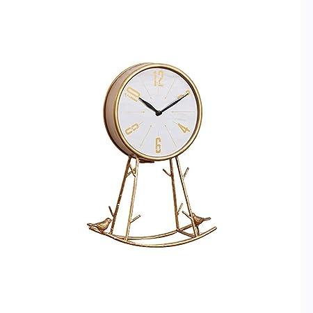 JIAHE115 Reloj de Cobre metálico Inicio Reloj Decoración Reloj de ...